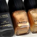 Chanel nailpolish black and gold