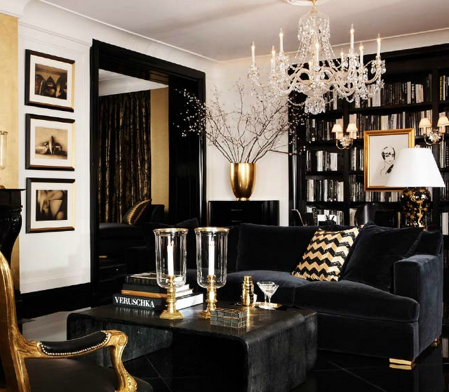 Black and gold room decor - LittlePieceOfMe
