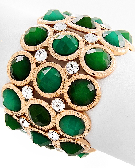 Emerald green and gold bracelet