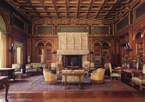 Gilded Age interior historical library