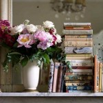 Images of vases - pretty books and vase of flowers