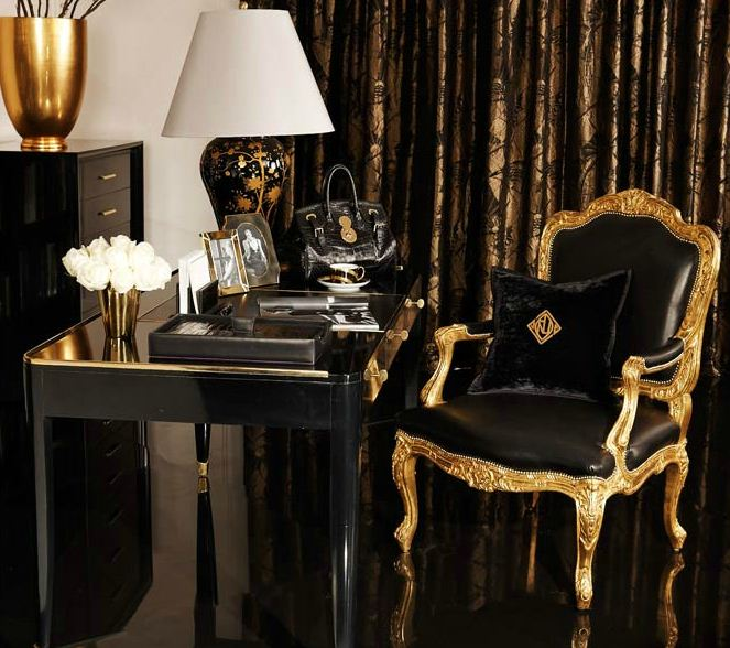 A sharp home office from ralph lauren home a collection for Ralph lauren living room designs
