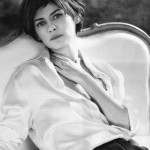 Audrey Tautou in white shirt