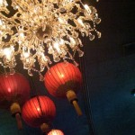 Luscious red photos - Chandelier and lanterns