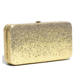 Nordstrom - Under One Sky Box Clutch - Gold sparkle