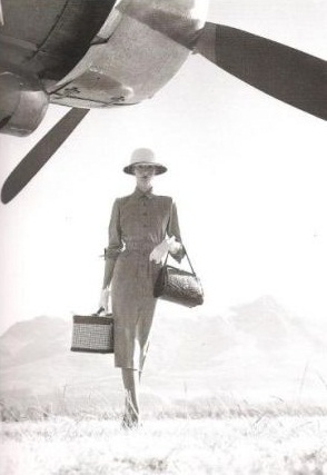 Norman Parkinson photo - British Empire traveller with plane