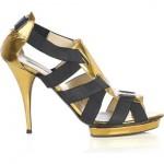 Oscar De La Renta Patent Leather Bandage Platform Sandals