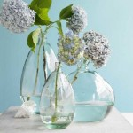 Photos of vases - hydrangeas and glass blown vases
