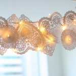 Pictures of lace - paper lace lighting