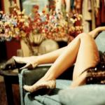 Glittery legs