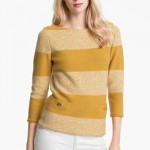 Tory Burch Becky Sweater Golden Sun Vanilla Cake Small