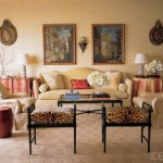 animal-print-vintage-benches-in-chicago-apt- furniture decor and accessories
