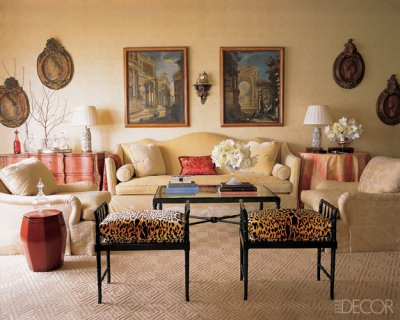 Stylish home decorating with animal prints for Animal print furniture home decor