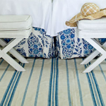 blue white striped rugs- furniture decor and accessories