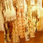 a golden life - pretty dresses on hangers