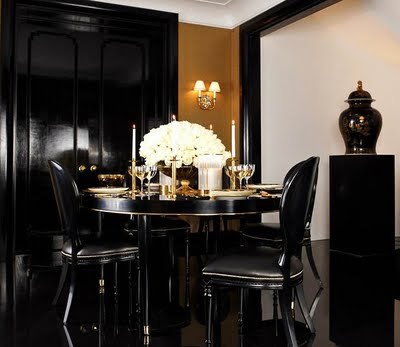 Ralph Lauren Home One Fifth Collection   Gold Black Decorating Ideas