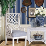 stuart membery home - blue and white furniture