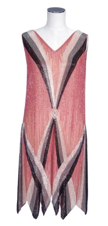 1920s beaded dance dress
