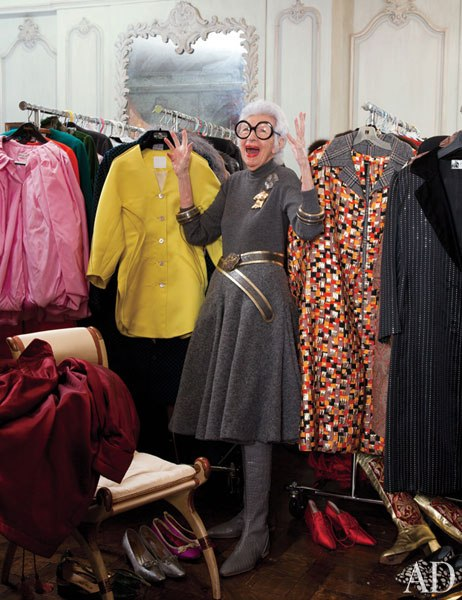 At home - Iris Apfel in her apartment in Manhattan