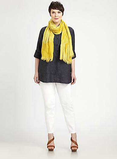Eileen Fisher Salon Z Linen Tunic