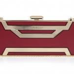 Elie Saab Rectangle Box Clutch Bag - red and gold