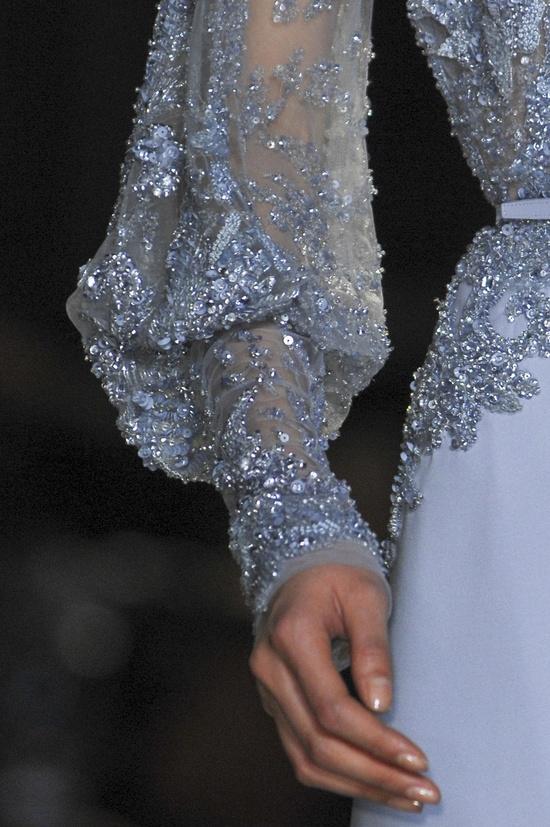 Elie Saab Spring 2013 Haute Couture lace detail