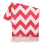 Jonathan Adler Zig Zag Red Throw Blanket - chevron
