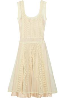 Philosophy di Alberta Ferretti White cream lace and cotton-tulle dress