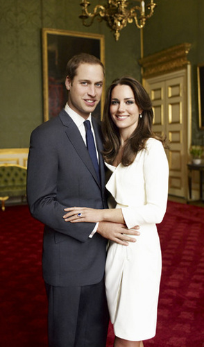 Prince William and Kate Middleton official engagement photo by Mario Testino