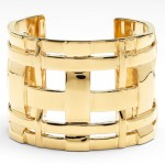 Tory Burch gold Hallow Cuff