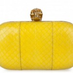Alexander McQueen - Britannia Skull Box Clutch bag - Yellow