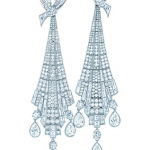 Art Deco drop earrings in platinum with diamonds - The Great Gatsby collection