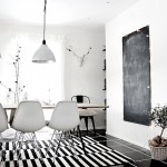 Beautiful black and white interior design - superior stripes