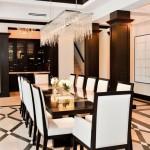 Beautiful black and white interior design