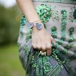 Boho glam green bling evening dress via Luscious