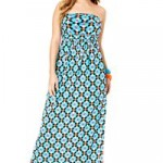 Avenue Plus Size Geometric Bandeau Maxi Dress