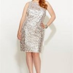 Avenue Plus Size Allover Sequin Sheath Dress