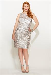 Plus Size Sequin Dresses Under 50 - Holiday Dresses