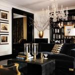 Glamorous living room dining library - Ralph Lauren Gold