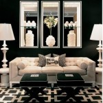 Elegant Living Room Ideas   Black And White