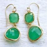 Gold and green jewellery - earrings via mylusciouslife