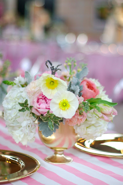Floral fancy board on Pinterest - Gold pink and blush flowers at the Dallas Arboretum by Bows and Arrows