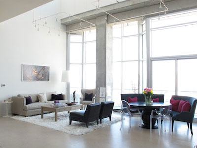Gwyneth Paltrow - Nashville Tennessee loft - Living and dining room