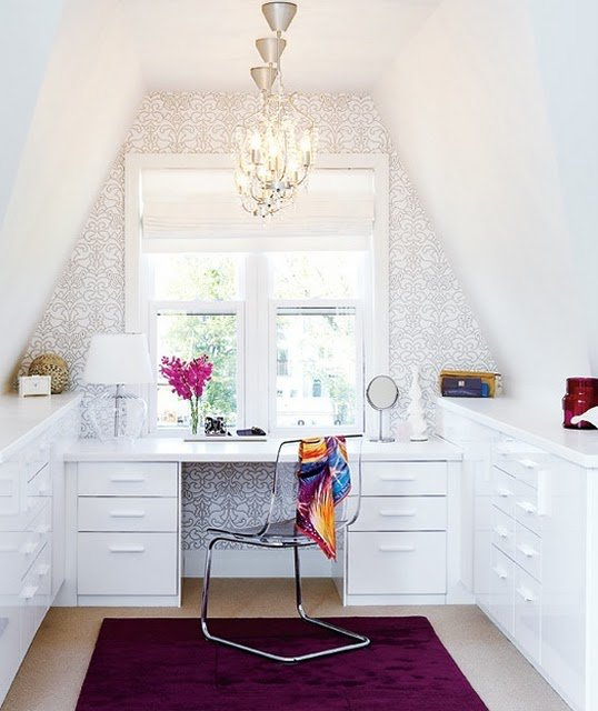 Luscious design inspiration to decorate your office for Craft office room ideas