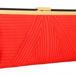 Jessica McClintock - Frame Pleated Clutch Red bag