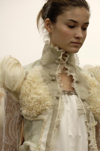 Luscious lace board on Pinterest - Balenciaga October 2005