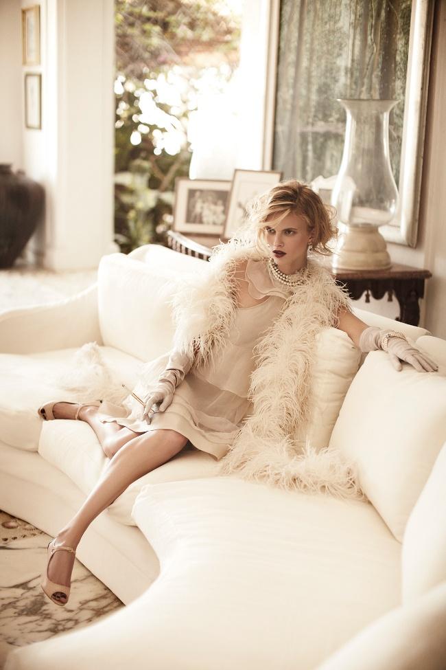 Sophie Holmes by Pasquale Abbattista -Golden Twenties - Elle Germany June 2011
