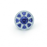 The Great Gatsby Collection ring in platinum with diamonds and tanzanites