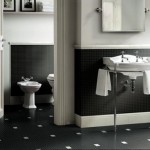 black and white interiors - bathroom interiors
