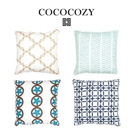 COCOCOZY COLLECTION BLUE PILLOWS via mylusciouslife